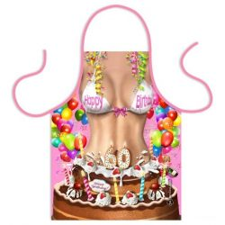 Szakács kötény, születésnapi tortás, nőknek, választható számmal