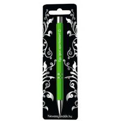 Gravírozott toll, Egy igazi sportember, zöld