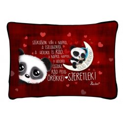 Díszpárna, rólad álmodom, panda maci