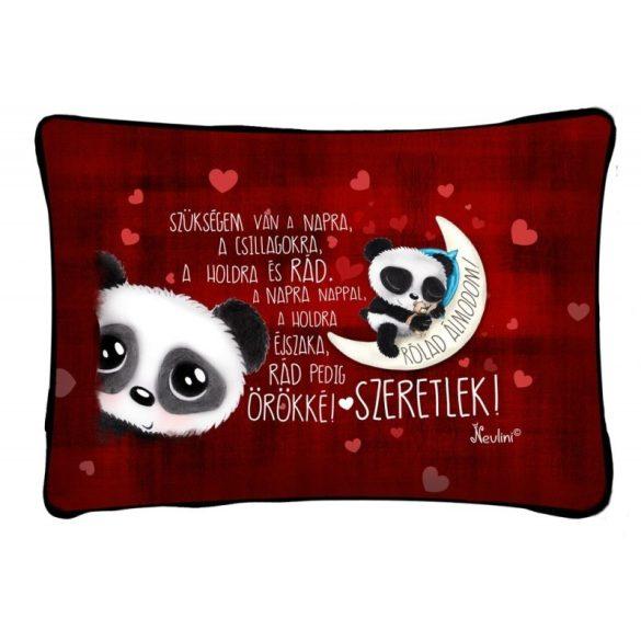 Díszpárna, rólad álmodom, panda maci, szerelmes ajándék