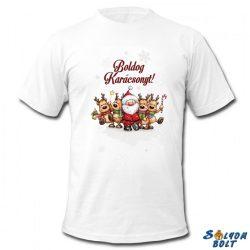 Karácsonyi póló, Mikulás és rénszarvasok
