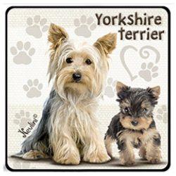 Kutyás hűtőmágnes, Yorkshire Terrier