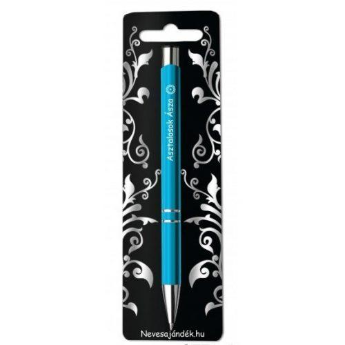 Gravírozott toll, Asztalosok ásza, kék
