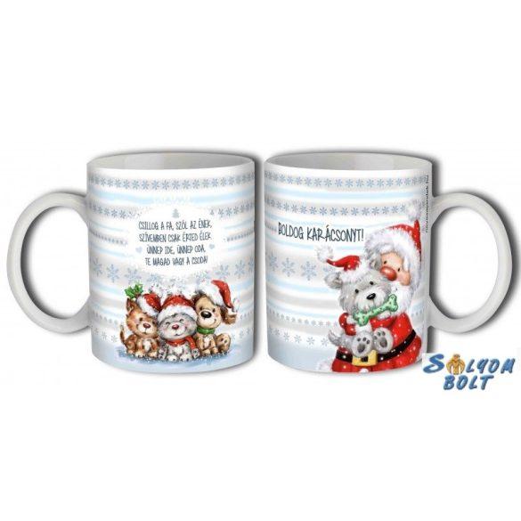 Bögre karácsonyra, Csillog a fa, szól az ének, kutyusok és cicák