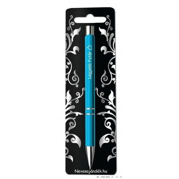 Gravírozott toll, Legjobb futár, kék