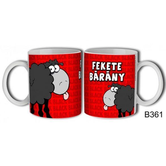 Vicces bögre, Fekete bárány