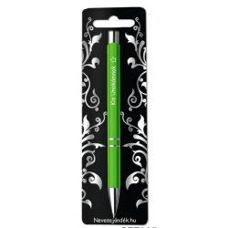Gravírozott toll, Kis unokámnak, zöld