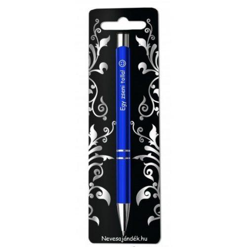 Gravírozott toll, Egy zseni tolla, kék