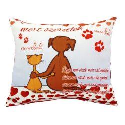 Szerelmes díszpárna, cica és kutya, Mert szeretlek, szerelmes ajándék
