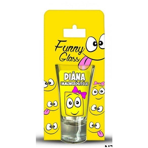 Diána pálinkás pohár