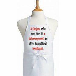 Vicces feliartos szakács kötény, A férjem soha nem kéri a véleményem