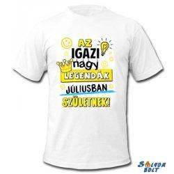 Születésnapi póló, Az igazi nagy legendák júliusban születnek, M