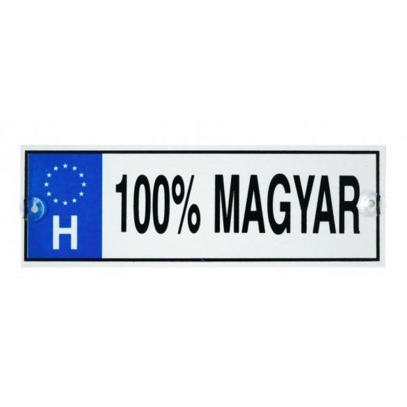 Vicces rendszámtábla, 100 % magyar