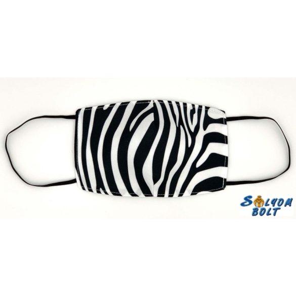 Vicces szájmaszk, zebra csíkos