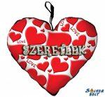 Szív alakú párna, szívek, love, szeretlek
