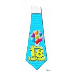 Nyakkendő, Boldog 18. 20. 30. 40. 50. 60. 70. szülinapot, kék