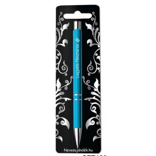 Gravírozott toll, Legjobb pénztáros, kék