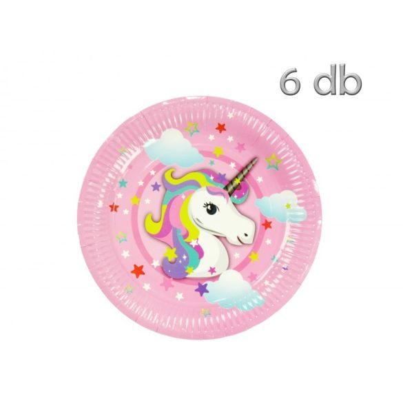 Party tányér csomag, unikornis, rózsaszín