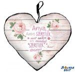 Szív alakú párna, Anyák napja, Anya, azért szeretlek