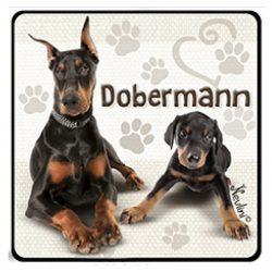 Kutyás hűtőmágnes, Dobermann