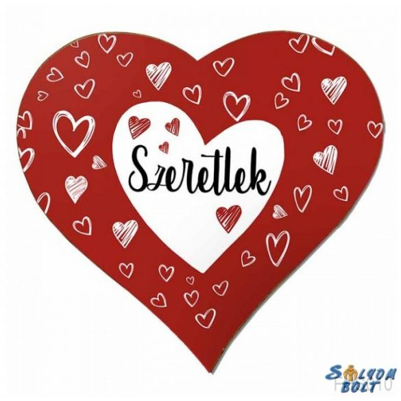 Szív hűtőmágnes, szeretlek, szívek, szerelmes ajándék