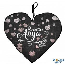 Szív alakú párna, Anyák napja, Szeretlek anya