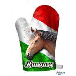 Edényfogó kesztyű, Hungary, barna ló