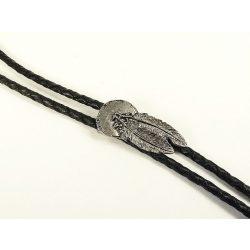 Fonott bőr nyakkendő, indián toll - amerikai nyakkendő