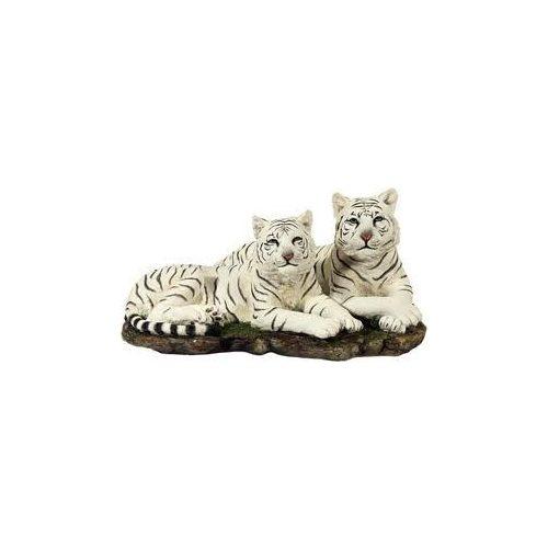 Fehér tigris pár szobor