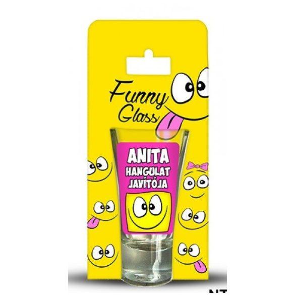 Anita pálinkás pohár