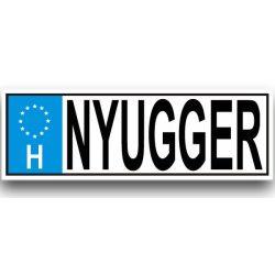 Vicces rendszámtábla, Nyugger