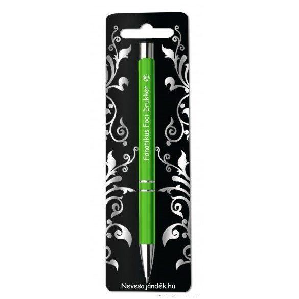 Gravírozott toll, Fanatikus foci drukker, zöld