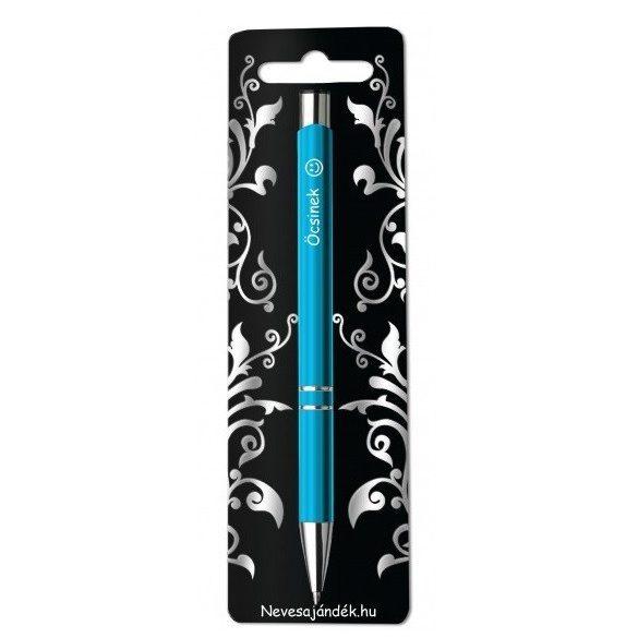 Gravírozott toll, Öcsinek, kék