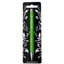 Gravírozott toll, Kiváló könyvelő, zöld