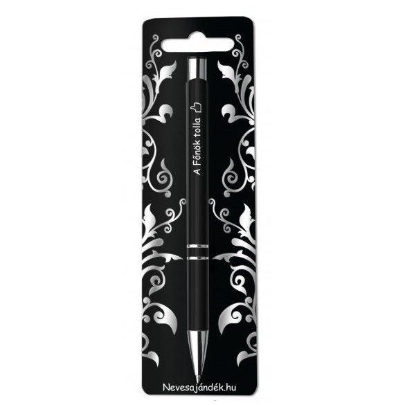 Gravírozott toll, A főnök tolla, fekete
