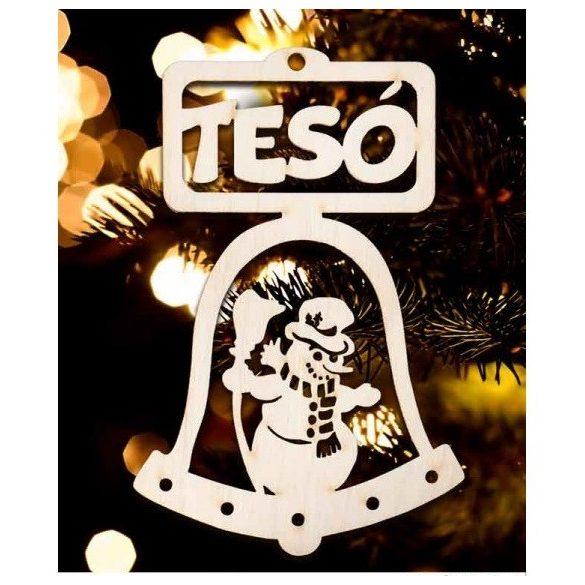 Karácsonyfa dísz, Tesó, hóember