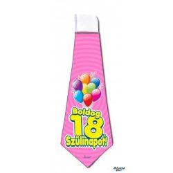 Nyakkendő, Boldog 18. 20. 30. 40. 0. 60. 70. szülinapot, rózsaszín