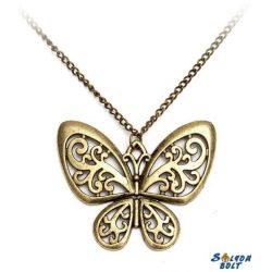 Vintage pillangó nyaklánc