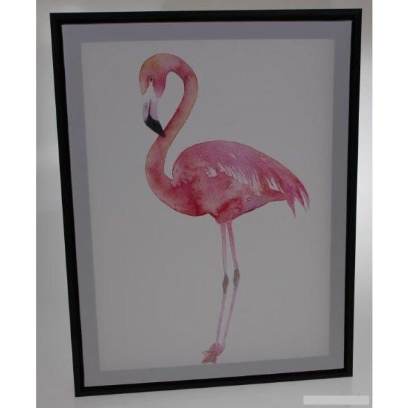 Falikép, álló flamingó