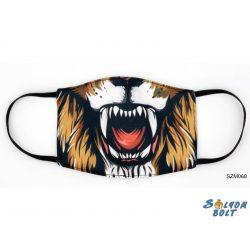 Vicces szájmaszk, oroszlán száj