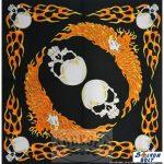 Koponyák piros sassal kendő