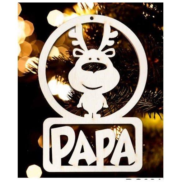 Karácsonyfa dísz, Papa, rénszarvas