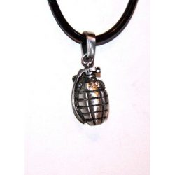 Necklace, hand grenade