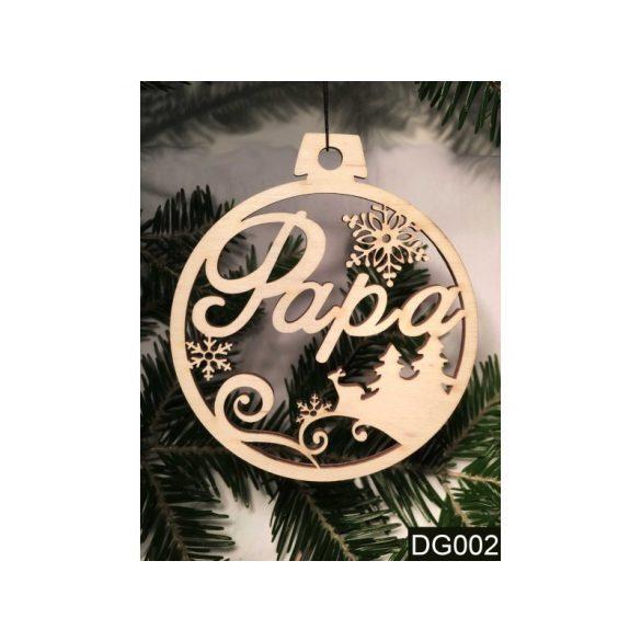 Karácsonyfa dísz, Papa