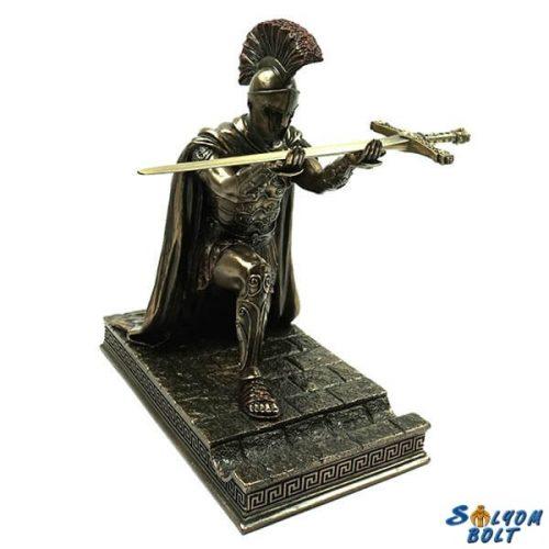 Római katona szobor tolltartó résszel, 19 cm