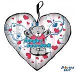 Szív alakú párna, ennyire szeretlek