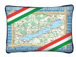 Balaton díszpárna, térkép