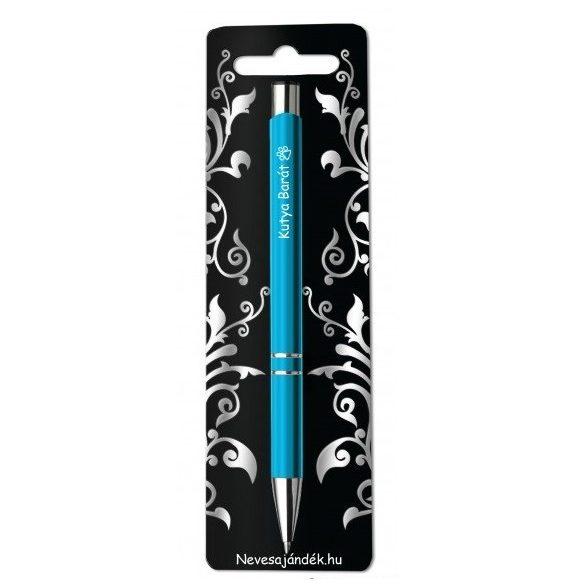Gravírozott toll, Kutya barát, kék