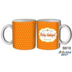 Bögre születésnapra, Boldog szülinapot, narancssárga