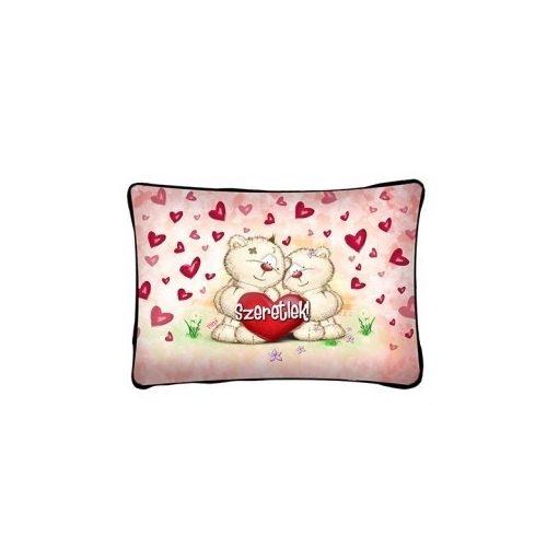 Díszpárna, szeretlek, Pimi maci pár, szerelmes ajándék